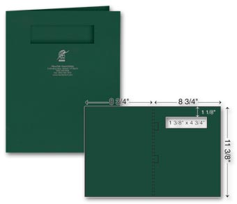 Side-Staple Report Cover - Foil Imprint - w/window