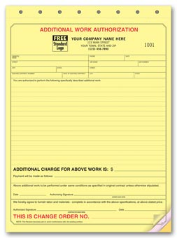 Additional Work Authorizations 3-part