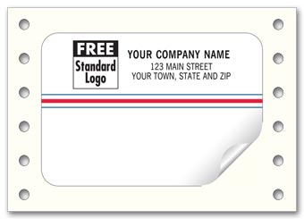 Continuous Small Mailing Label