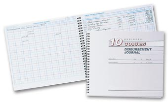 Cash Receipts Journal - 10 Column Disbursement Journal