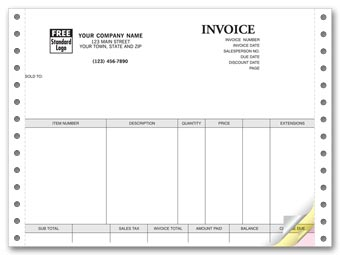 Invoices, Continuous, Classic 3-part