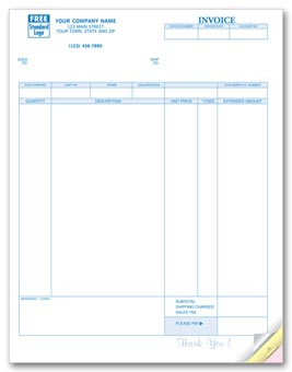 Invoices, Laser, Classic 2-part