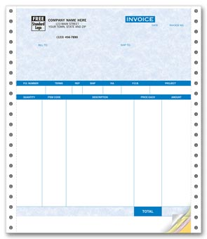 Product Invoices, Continuous, Parchment 4-part