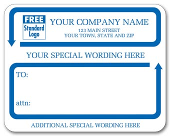 Jumbo Mailing Labels w/ Special Wording, Padded, White