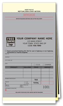 Neptune Fuel Meter Tickets with Carbons 3-part