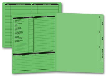 Real Estate Folder, Left Panel List, Letter Size, Green