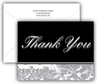 Linen Finish Budget Thank You Card