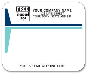 Mailing Labels, Laser/Inkjet, White w/ Blue Stripes
