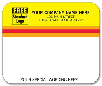 Mailing Labels, Laser/Inkjet, Yellow/White w/ Stripes