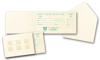 For You Fresh Impressions Gift Certificates, Vellum