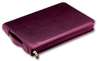 3-On-A-Page Zippered Leather Portfolio