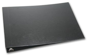 3-On-A-Page Black Board 7 Ring Binder