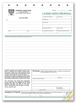 Landscape Proposal - Proposal Form 3-part