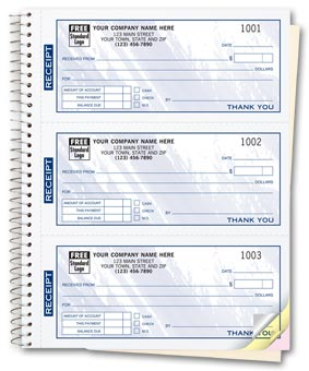 Cash Receipt Books, Colors Design, 3 To Page 2-part
