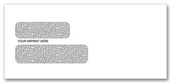 Double Window Envelopes - 9 x 4 1/8 Confidential Envelope