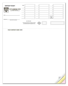Laser Deposit Tickets, QuickBooks Compatible