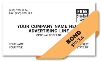 Value Business Cards, 1 or 2 ink colors, bond stock
