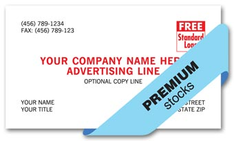 Premier Business Cards, 1 or 2 inks colors, premium stocks