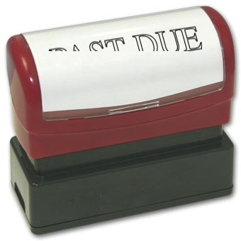 Past Due Stamp - Pre-Inked