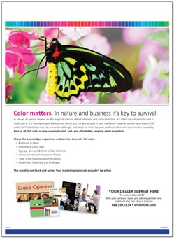 Full Color Printing Sell Sheet