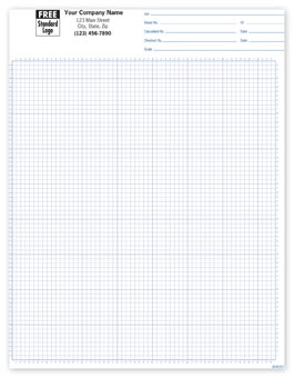 Graph Paper 1/8 , Padded