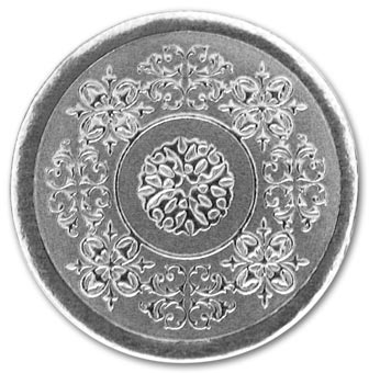 Round Silver Medallion Envelope Seal