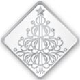 Silver Christmas Tree Envelope Seal