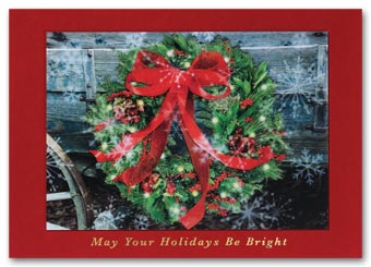 Wondrous Wreath Lenticular Holiday Card