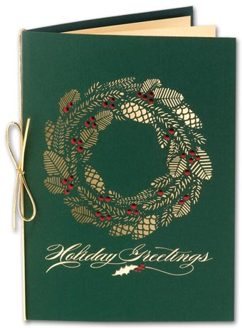 Holly Season Laser Cut Holiday Card