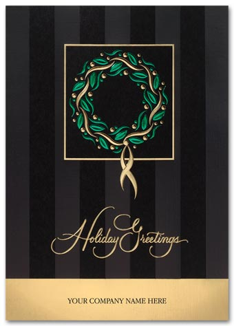 Regal Wreath Holiday Card
