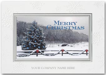 Snowy Winter Bliss Holiday Card