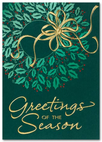 Wreath of Reflection Holiday Card