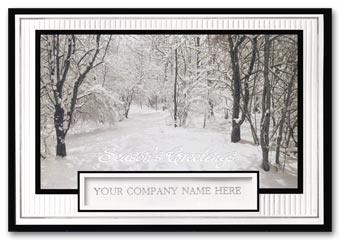 Snow Covered Serenity Holiday Card