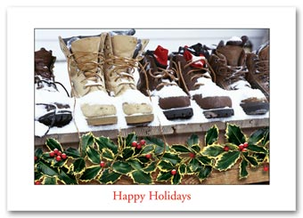 Snow Boots Holiday Card