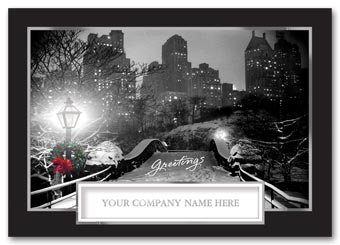 Wintry Cityscape Holiday Card