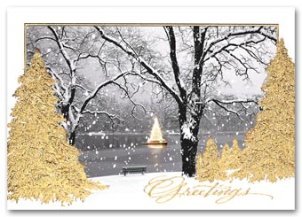 Lakeside Shimmer Christmas Card