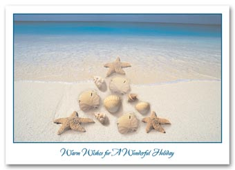 Festive Shoreline Holiday Card