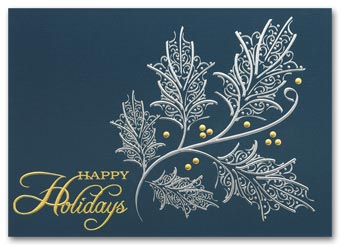 Silver and Gold Holiday Cards