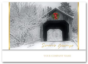 Covered Bridge Holiday Card
