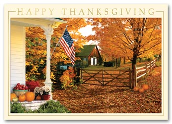 Fall Greetings Thanksgiving Card