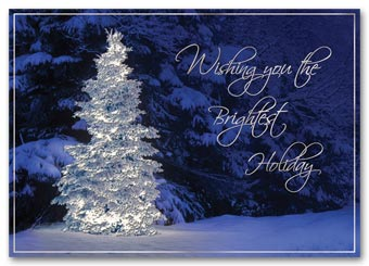 Glistening Wonder Holiday Card