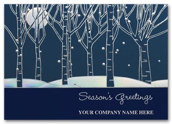 Serene Night Holiday Card