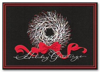 Artistic Wreath Holiday Card