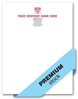 Premier Letterhead, 1 or 2 ink colors, Crane stocks