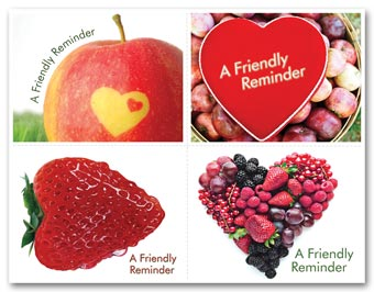 Healthcare Reminder Card, Heart Fruit Laser Postcard