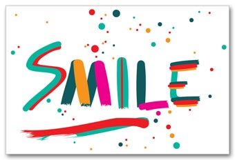 Dental Laser Postcards, Smile