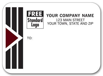 Park Avenue Mailing Labels, Rolls, w/ Black/Burgundy