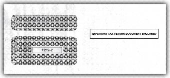 2016 1099 Double-Window Envelope, Self-Seal