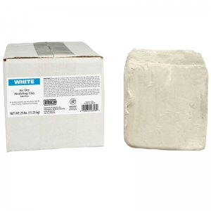 Air Dry Clay, White, 25 lbs.