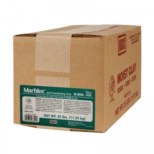 Marblex Self-Hardening Clay, Gray, 25 lbs.